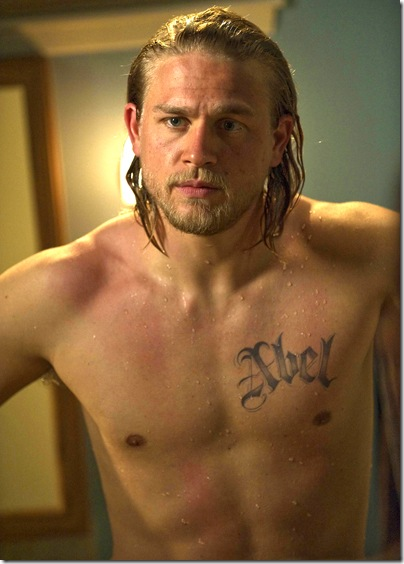 "SONS OF ANARCHY: 201: Charlie Hunnam on the episode ""Albification"" airing Tuesday, Sept. 8th, 10 pm e/p on FX. CR: Prashant Gupta / FX"